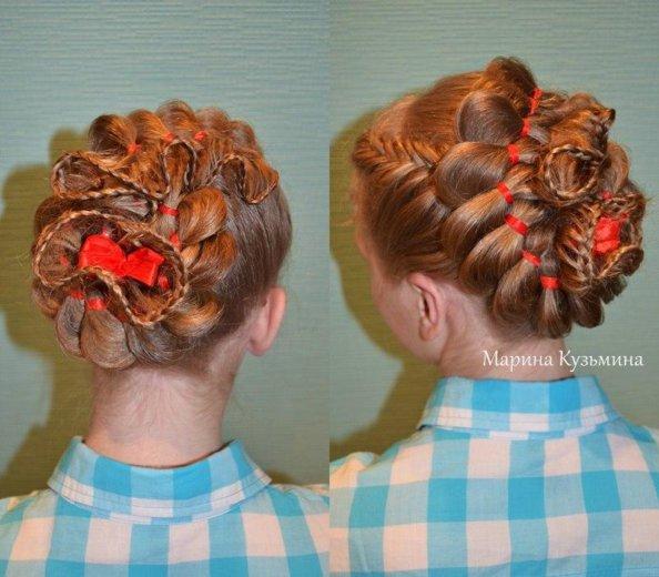 Обучение плетению кос. Фото 2. Омск.