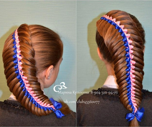 Обучение плетению кос. Фото 1. Омск.