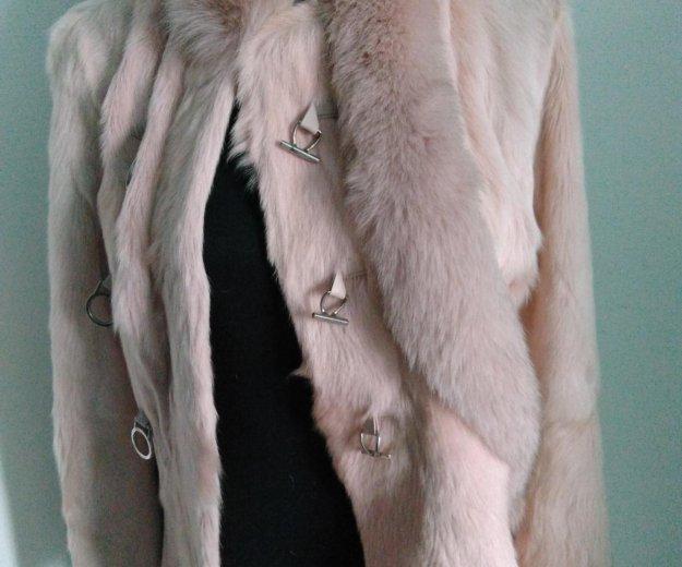 Розовая курточка-шубка из козы. Фото 1. Новосибирск.