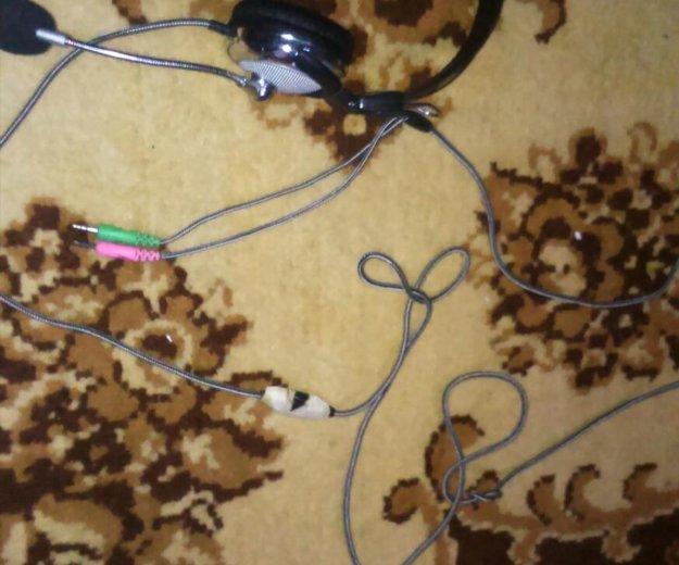 Наушники с микрофоном. Фото 1. Зеленодольск.