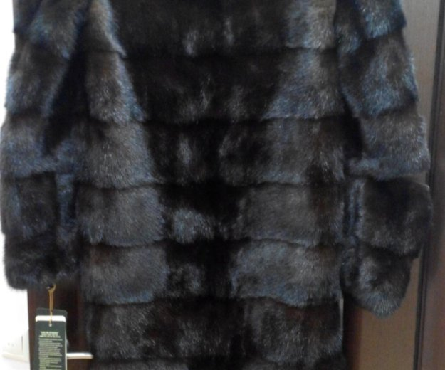 Новая норковая шуба поперечка 100 см. Фото 1.