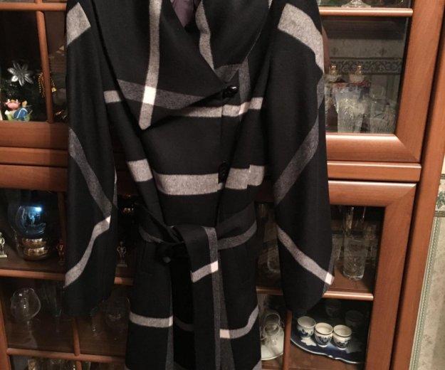 Пальто в клетку кашемировое. Фото 1. Москва.