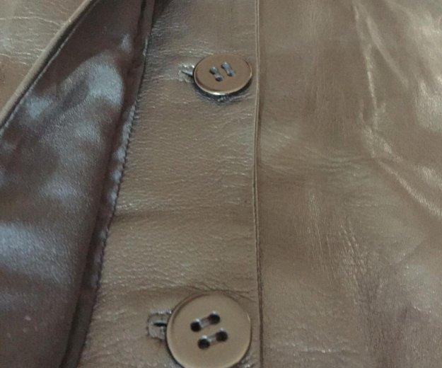 Женское, итальянское пальто из натуральной кожи. Фото 2. Москва.