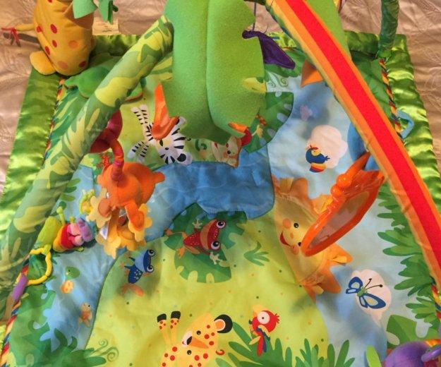 Развивающий коврик «тропический лес» fisher price. Фото 1.