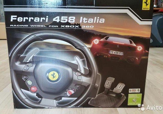Руль, педали ferrari 458 для xbox 360 и пк. Фото 1. Краснодар.