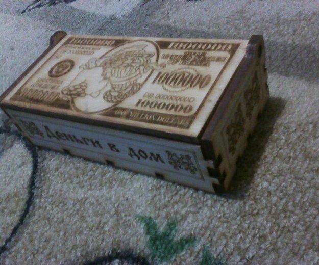 Сувенир, шкатулка для денег, деревянная. Фото 2. Бийск.