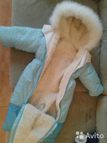 Зимний комбинезон трансформер натуральная овчина. Фото 2. Тюмень.