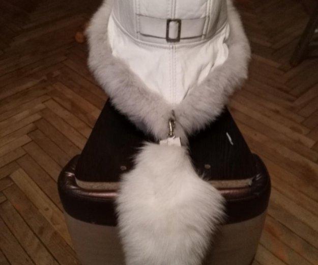 Новая шапка из нат.кожи и меха песца. Фото 3. Санкт-Петербург.