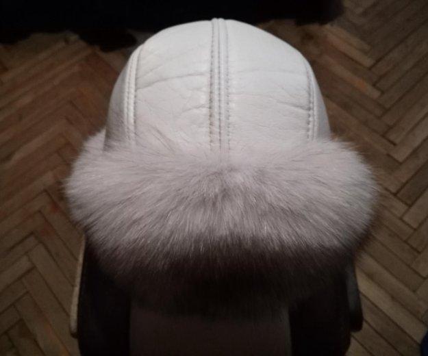 Новая шапка из нат.кожи и меха песца. Фото 4. Санкт-Петербург.
