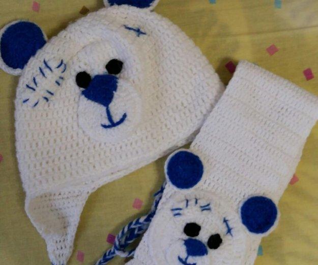 Шапочка и шарфик. Фото 1. Кемерово.