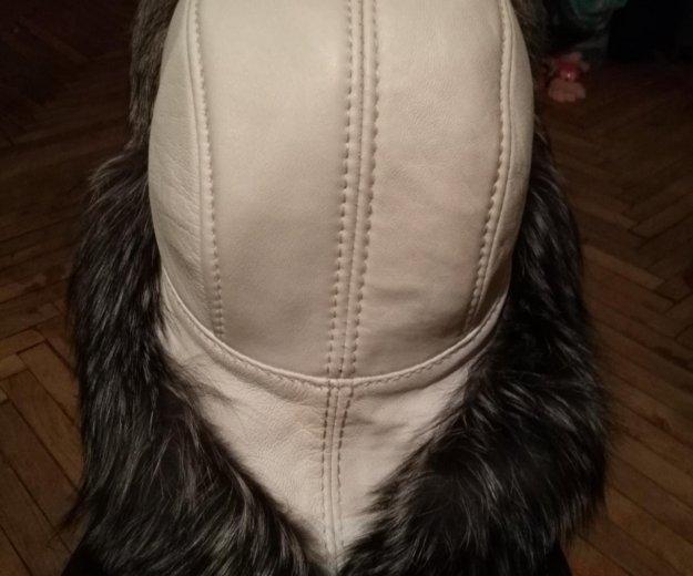 Новая шапка из нат.кожи и меха бурой лисы. Фото 2. Санкт-Петербург.