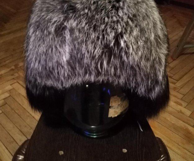 Новая шапка из нат.кожи и меха бурой лисы. Фото 4. Санкт-Петербург.