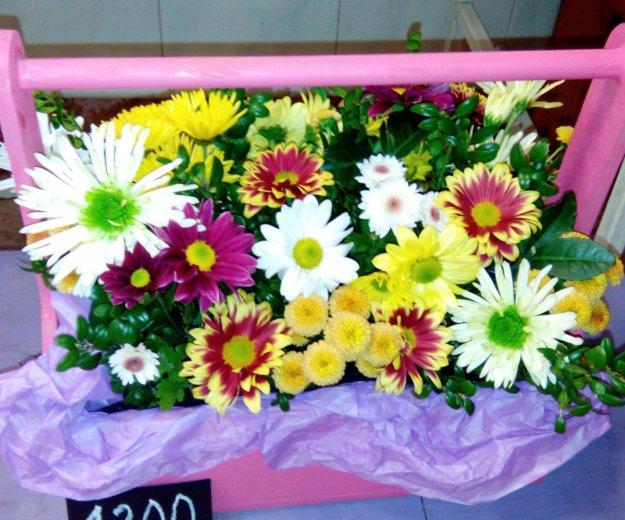 Деревянные кашпо с цветами. Фото 2. Краснодар.