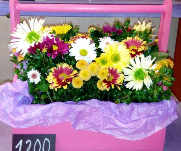 Деревянные кашпо с цветами. Фото 3. Краснодар.