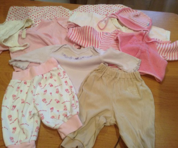 Вещи на девочку 0-3 месяца. Фото 1. Железнодорожный.