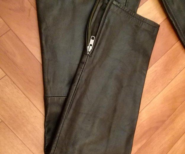 Кожаные брюки topshop оригинал. Фото 3.