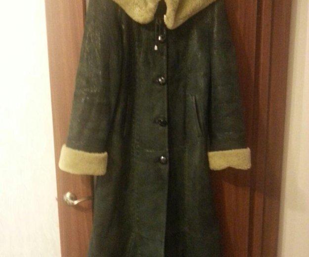 Дубленка женская длинная. Фото 2. Омск.