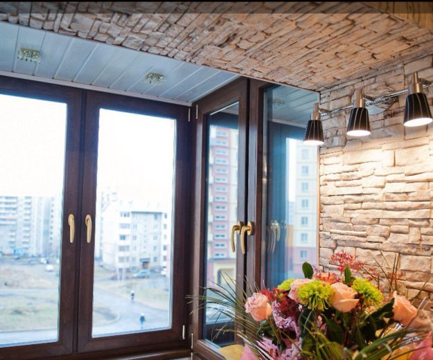 Остекление балконов под ключ, пристраиваем балконы. Фото 2. Иркутск.