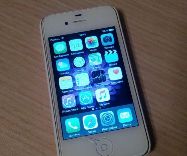 Айфон 4s, 16 gb, ios 9.3.5, оригинал. Фото 1. Кстово.