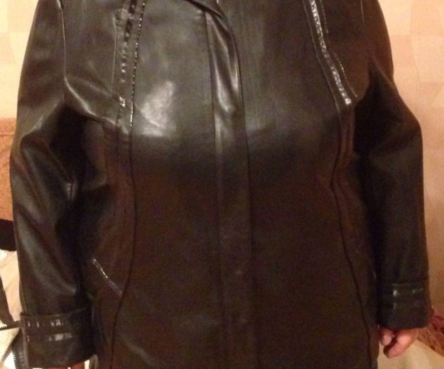 Куртка кожзам 62 размер. Фото 2. Санкт-Петербург.