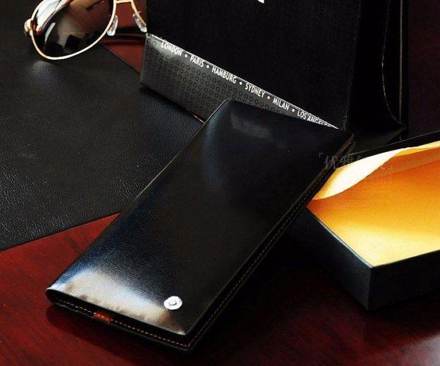 Мужской #бумажник из натуральной кожи montblanc. Фото 1. Санкт-Петербург.