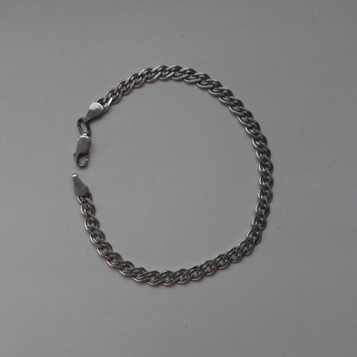 Браслет серебряный 20,5 см. Фото 1.