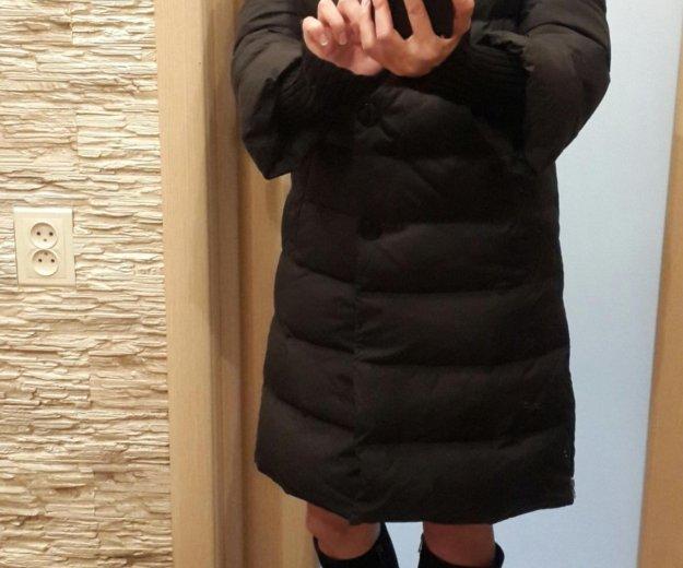 Элегантное пальто пуховик. Фото 2.