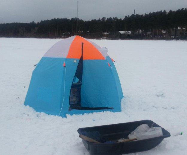 """Палатка зимняя трех местная, """"пингвин"""". Фото 1. Монетный."""