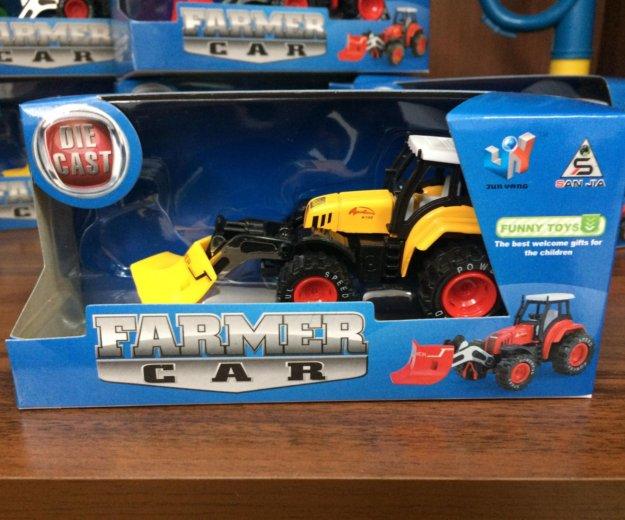 Трактор металлический с насадкой инерционный. Фото 2. Барнаул.