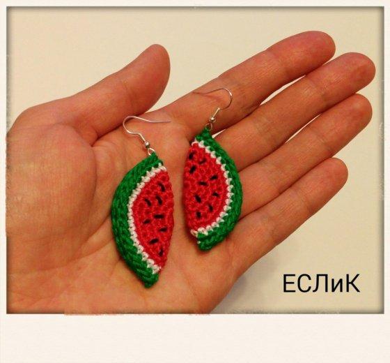 Серьги арбузики. Фото 1. Москва.