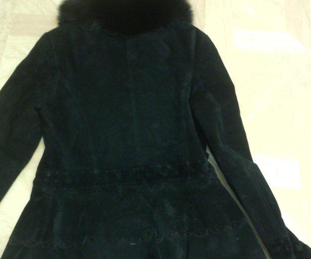 Замшевая куртка с мехом б/у. Фото 1. Уфа.