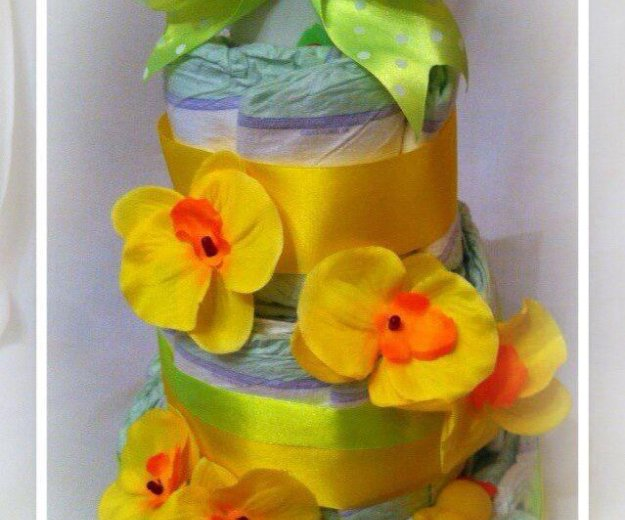Торт из подгузников. Фото 1. Москва.