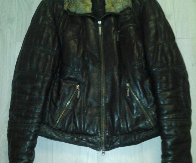 Куртка кожаная зимняя. Фото 1.