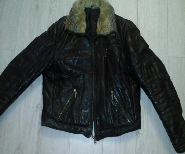 Куртка кожаная зимняя. Фото 4.