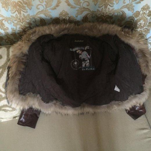 Куртка кожаная утеплённая. Фото 2. Москва.