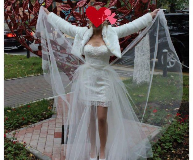 Свадебная шубка/ болеро. Фото 2. Долгопрудный.