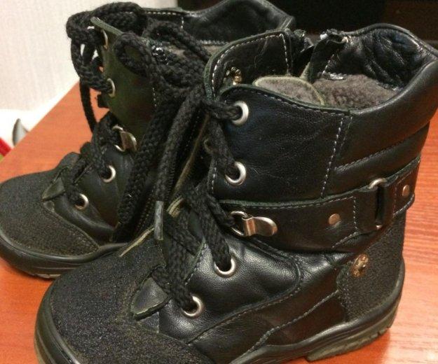 Зимние ботинки натуральная кожа,натуральный мех. Фото 1. Кострома.