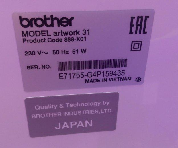 Швейная машинка brother artwork 31. Фото 2. Химки.