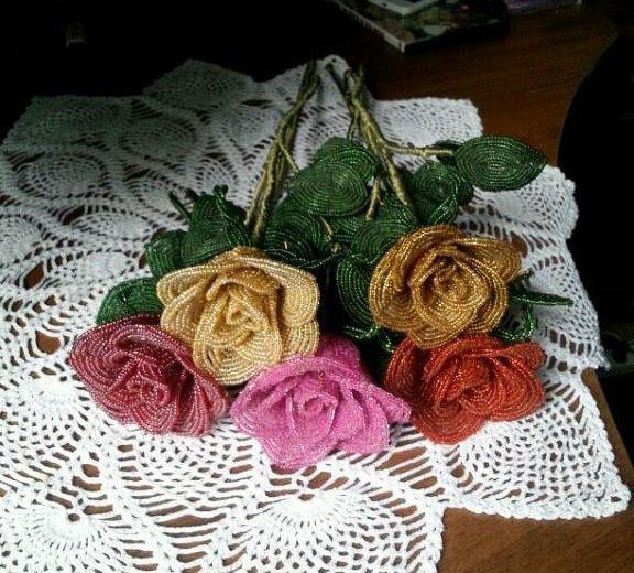 Цветы из бисера. Фото 1. Ильский.