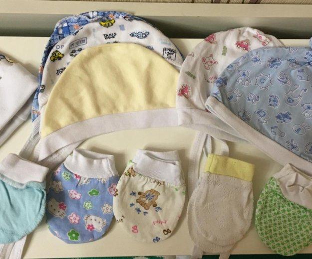 Чепчики и царапки для новорожденного. Фото 1. Дзержинский.