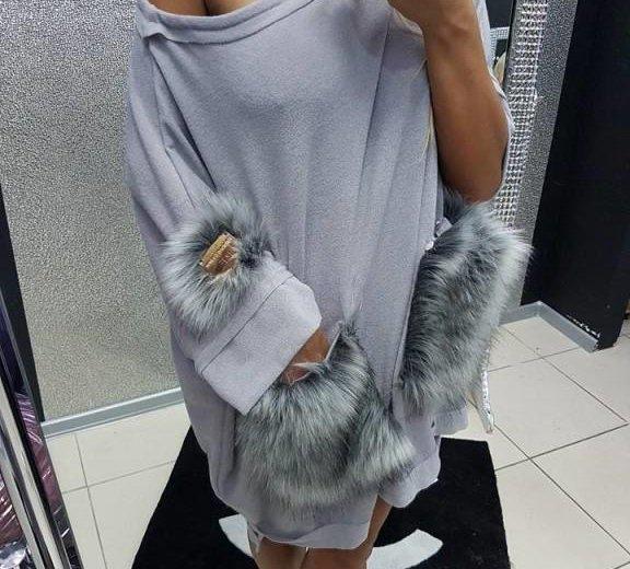 Платье с натуральным мехом. Фото 2.