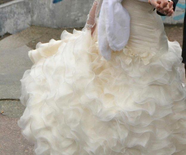Свадебное платье 44-46 размера цвет шампань. Фото 1. Пермь.