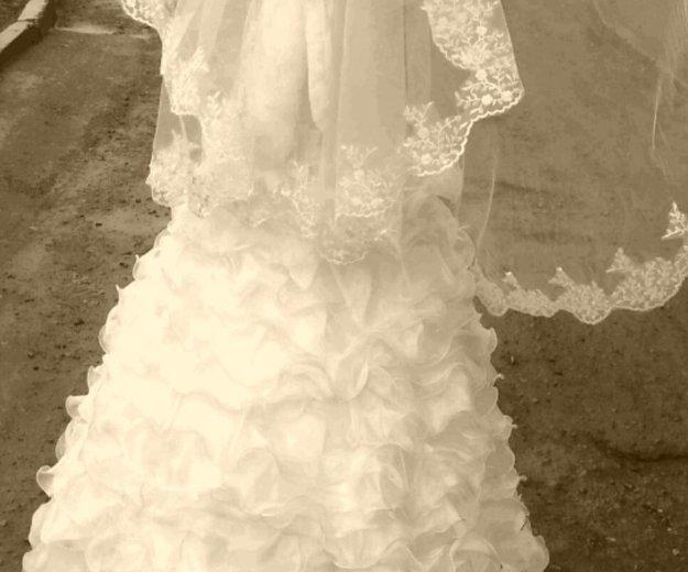 Свадебное платье 44-46 размера цвет шампань. Фото 2. Пермь.