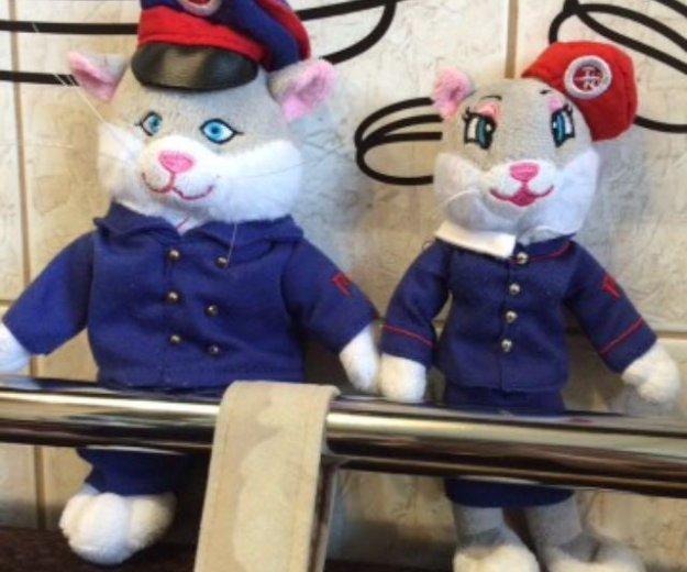 Мягкие игрушки(котик и кошечка)ржд. Фото 1. Санкт-Петербург.