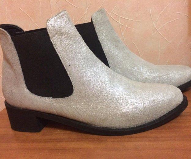 Ботинки замшевые новые. Фото 3. Новосибирск.