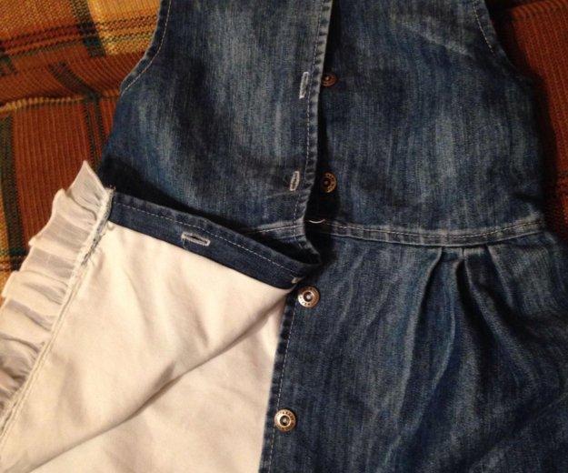 74 р джинсовый сарафан. Фото 3.