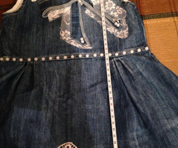 74 р джинсовый сарафан. Фото 4.