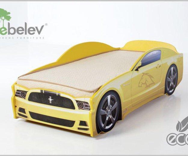 Кровать-машина мустанг (цвет желтый). Фото 2. Москва.