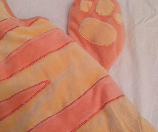Яркий плюшевый теплый детский спальный мешок. Фото 3.