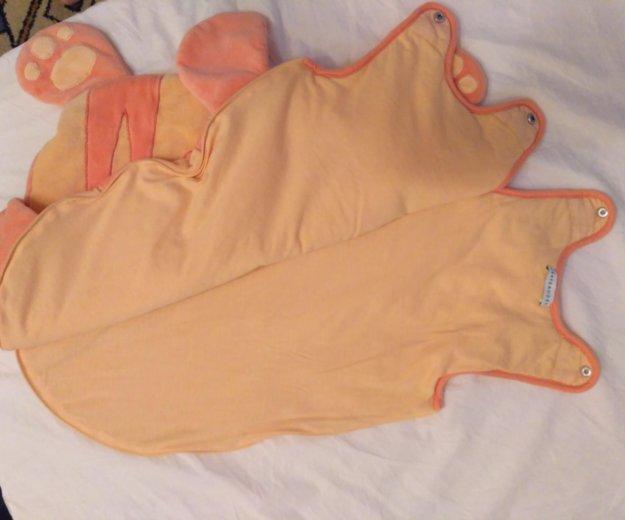 Яркий плюшевый теплый детский спальный мешок. Фото 4.
